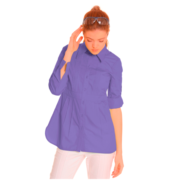 Ladies-Shirt-for-Work-Lacerta-Lilac