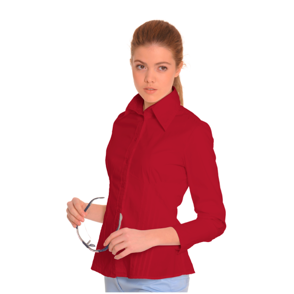 Ladies-Shirt-for-Work-Auriga-Red-1