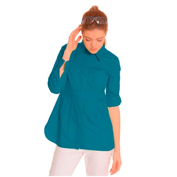 Ladies-Shirt-for-Work-Lacerta-Petrol-1