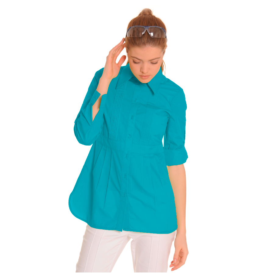 Ladies-Shirt-for-Work-Lacerta-Turquoise-1
