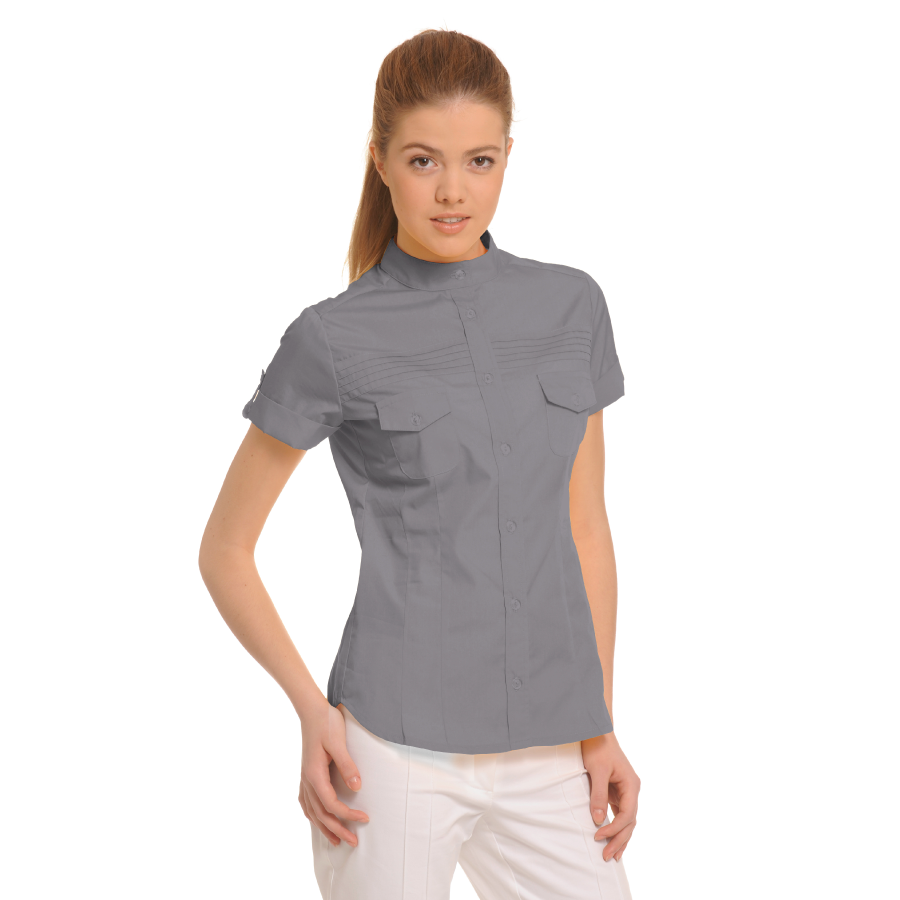 Ladies-Shirt-for-Work-Tucana-Grey