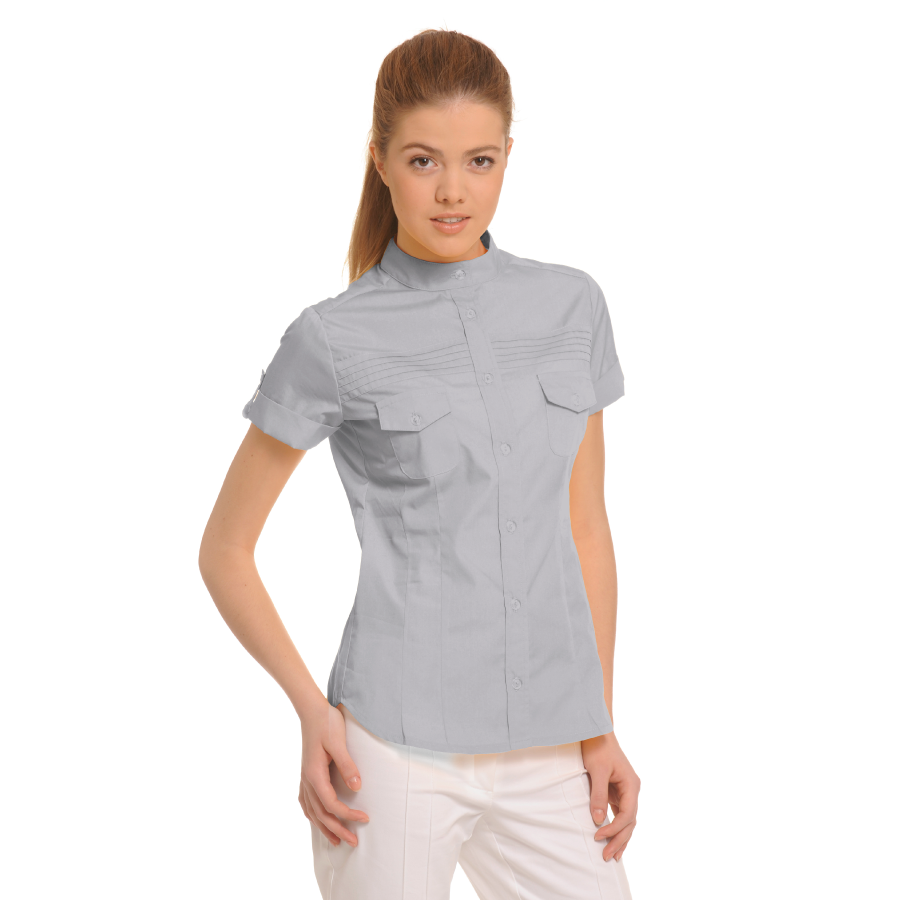Ladies-Shirt-for-Work-Tucana-Light-Grey