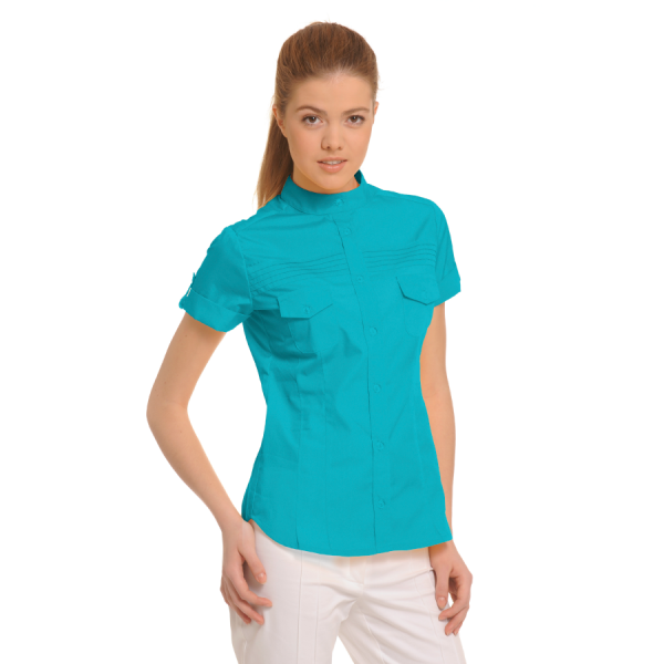 Ladies-Shirt-for-Work-Tucana-turquoise