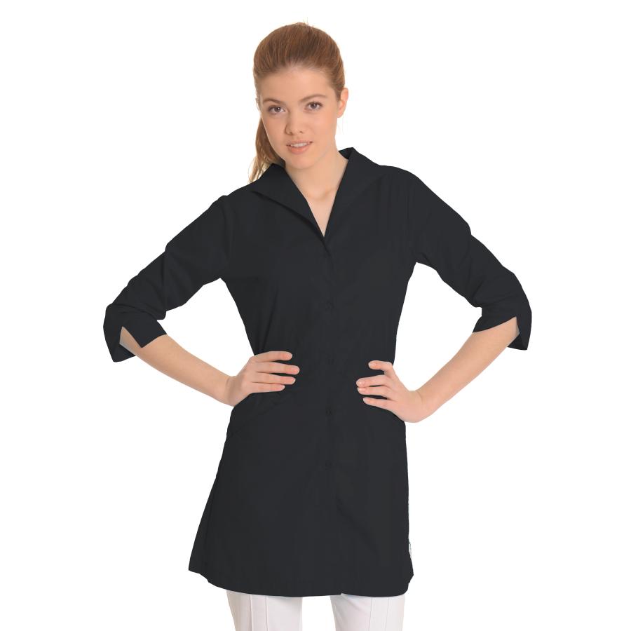 Lab-Coat-for-Women-Hydra-Black