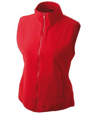 Ladies-Fleece-Gilet-JN048-red-1