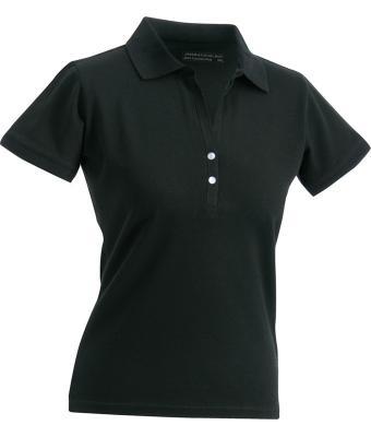 Ladies-Polo-Shirt-Black-T-Shirt-JN-158-1