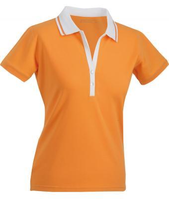 Ladies-Polo-Shirt-Orange-White-T-Shirt-JN-158-1