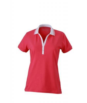 Ladies-Polo-Shirt-Pink-White-T-Shirt-JN-158-1