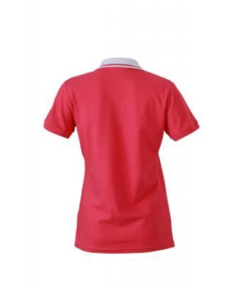 Ladies-Polo-Shirt-Pink-White-T-Shirt-JN-158-2