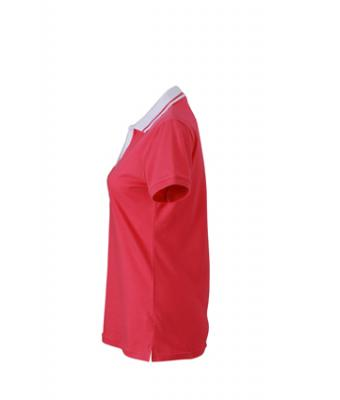 Ladies-Polo-Shirt-Pink-White-T-Shirt-JN-158-3