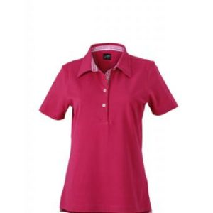 Ladies-Polo-Shirt-Purple-Purple-White-T-Shirt-JN-969-1
