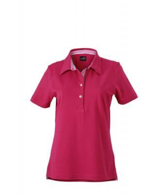 Ladies-Polo-Shirt-Purple-Purple-White-T-Shirt-JN-969-1