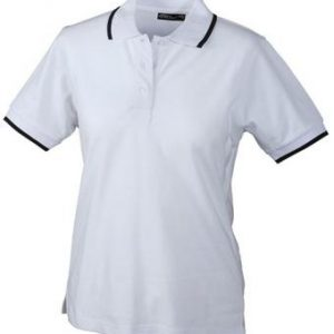 Ladies-Polo-Shirt-White-Navy-T-Shirt-JN-934-1