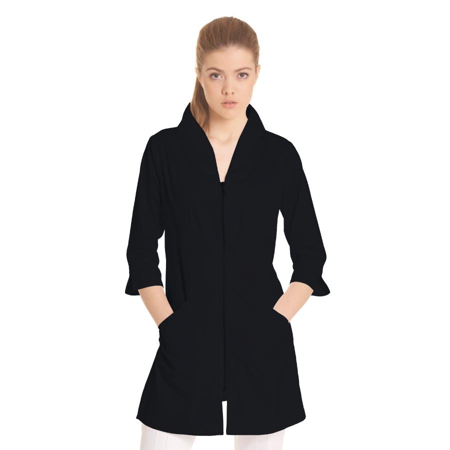Ladies-white-coat-Norma-Black