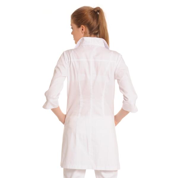 Ladies-white-coat-Norma-White-Back