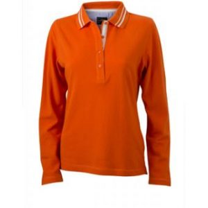 Longsleeve-Polo-Shirt-dark-orange-JN-967-1