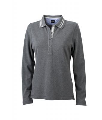 Longsleeve-Polo-Shirt-grey-melange-JN-967-1