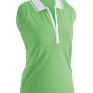 Sleeveless-Polo-Shirt-Lime-Green-T-Shirt-JN-159-1