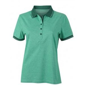 Women-Polo-Shirt-Green-Melange-DarkGreen-T-Shirt-JN-705-1