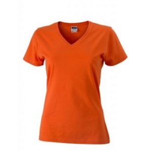 Women-t-shirt-Dark-Orange-T-Shirt-JN-972-1