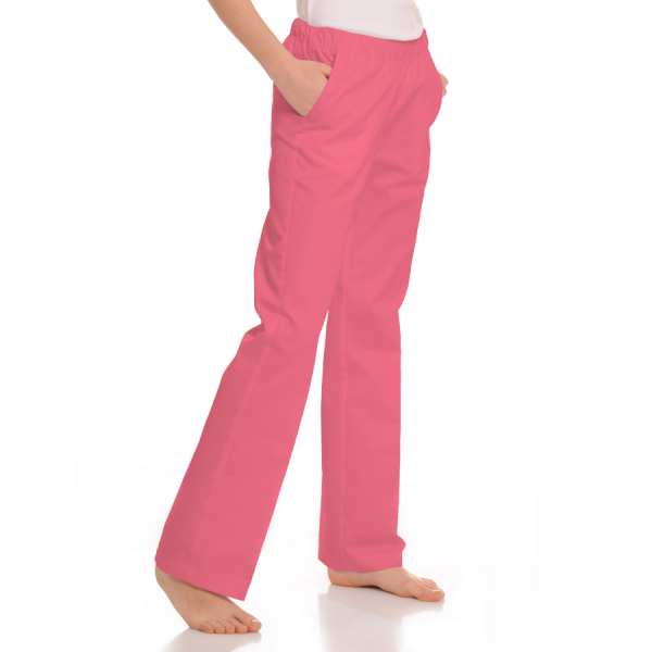 Womens-Medical-trousers-with-pockets-Pavo-Coral