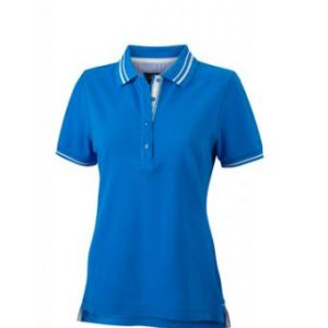 Womens-Polo-Shirt-Cobalt-White-T-Shirt-JN-946-1