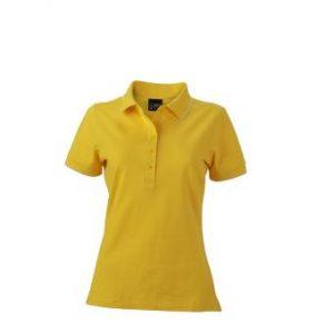 Womens-Polo-Shirt-SunYellow-White-T-Shirt-JN-985-1