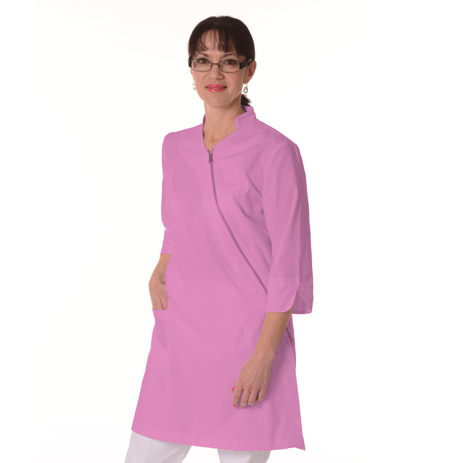 Womens-White-Coat-Musca-Pink