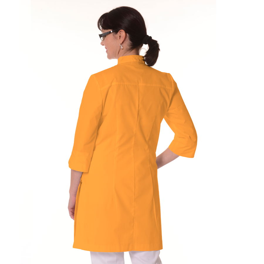Womens-White-Coat-Musca-Yellow-Back