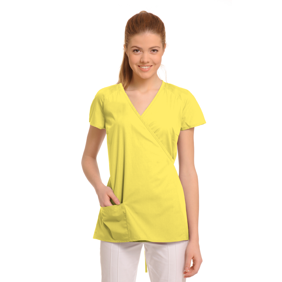 Ladies-Tunics-for-Work-Ara-Yellow