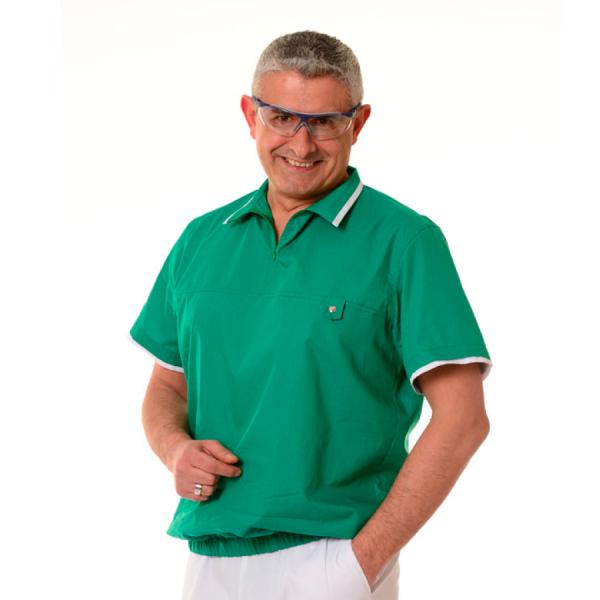 Medical-Tunics-for-men-Crater-Green