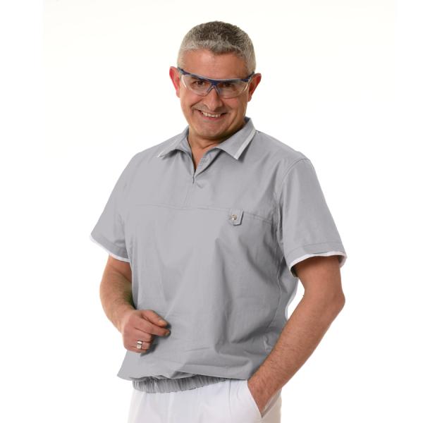 Medical-Tunics-for-men-Crater-Grey