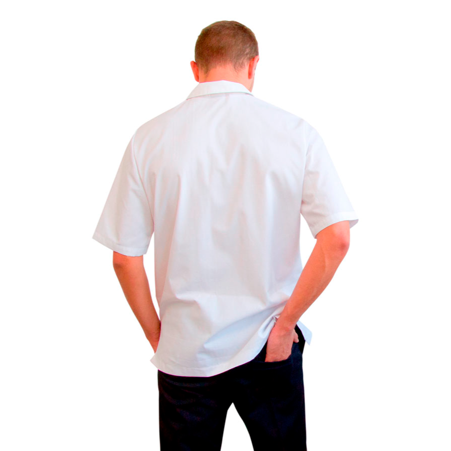 Medical-Tunics-for-men-Dorado-Men-White-back