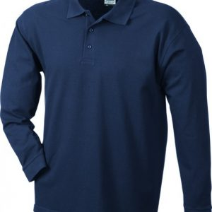 Mens-Long-Sleeve-Polo-Shirt-JN022-navy