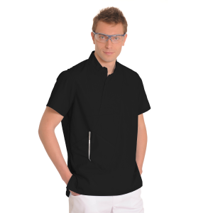 Mens-tunic-for-work-Aries-Black