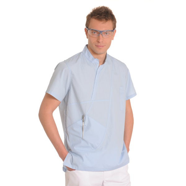 Mens-tunic-for-work-Aries-Light-blue