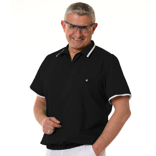 Mens-tunic-for-work-Crater-black