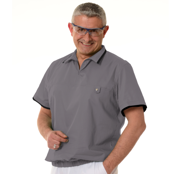Mens-tunic-for-work-Crater-grey