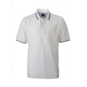 Polo Shirt-off-white-navy-JN947