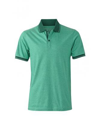 Polo-shirt-green-melange-dark-green0JN706