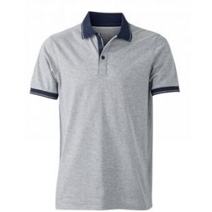 Polo-shirt-grey-melange-navy-JN706