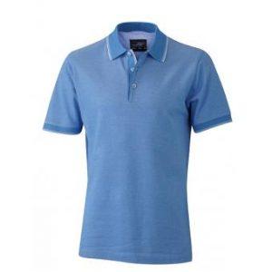 Polo-shirt-light-blue-white-JN704