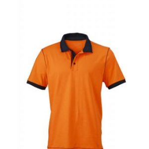 Polo-shirt-orange-navy-JN980