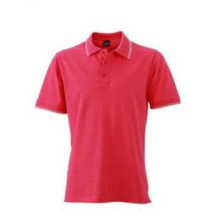 Polo-shirt-pink-white-JN986