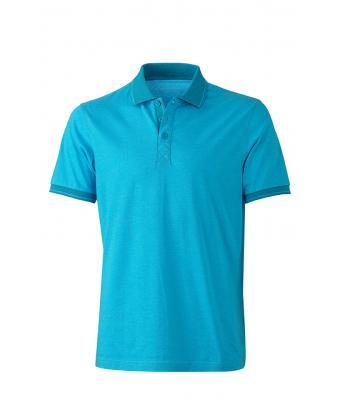 Polo-shirt-turquoise-melange-turquoise-JN706