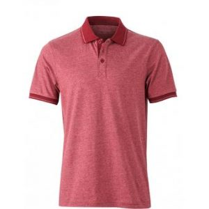 Polo-shirt-wine-melange-wine-JN706