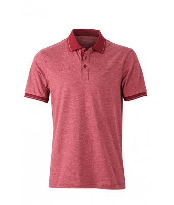 Polo-shirt-wine-melange-wine-JN706