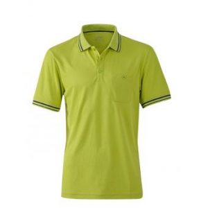 Polo-shirt-acid yellow-carbon-JN702
