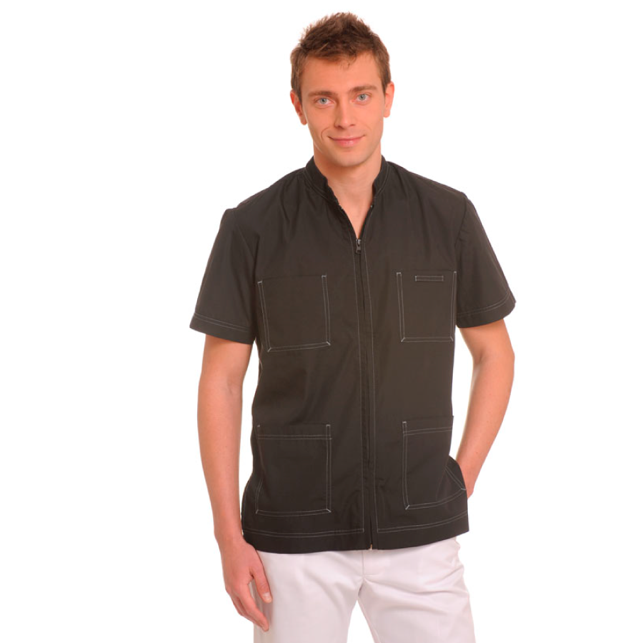 Short-Sleeve-Work-Shirt-for-men-Lynx-black
