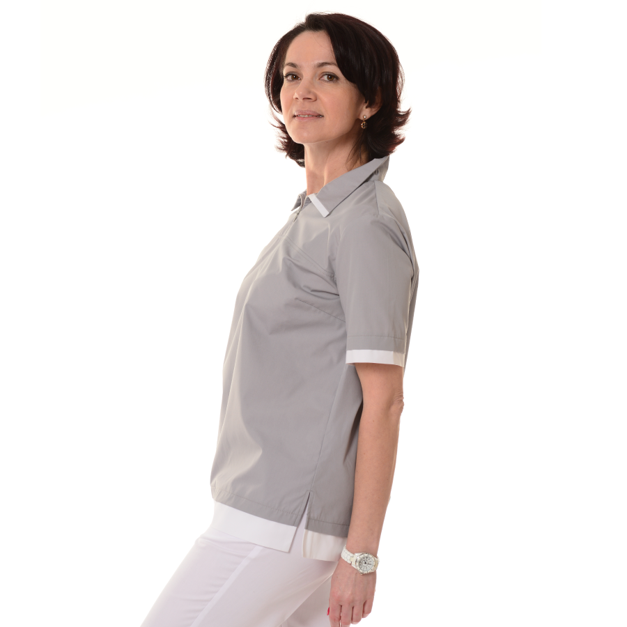 Womens-Tunics-for-Work-Puppis-Grey-side